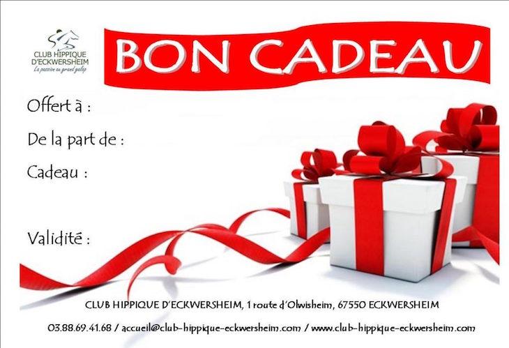 Couverture article bon cadeau de Noël proposé par le Centre équestre situé près de Strasbourg