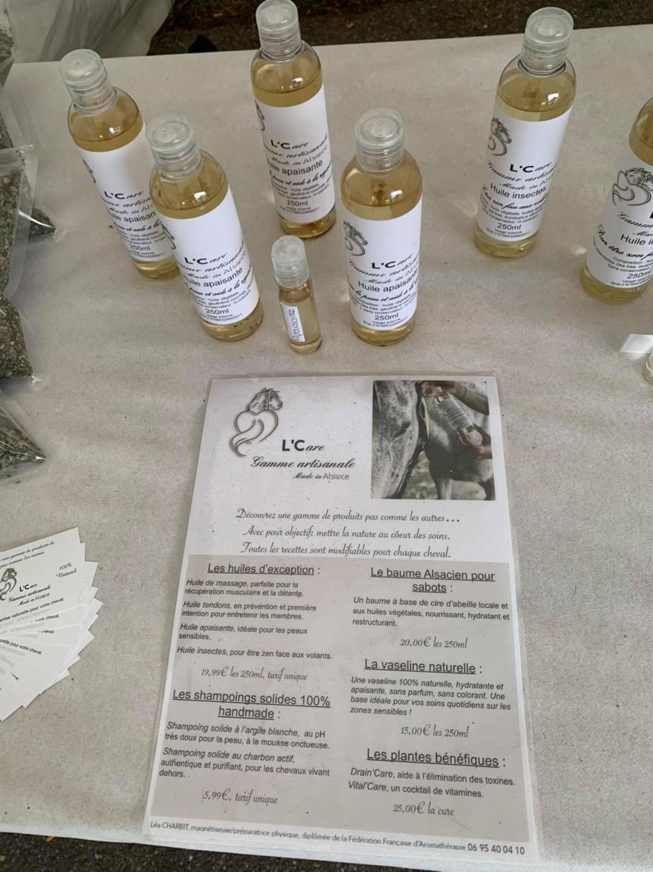 produits L CARE partenaire du club hippique d'eckwersheim Strasbiourg