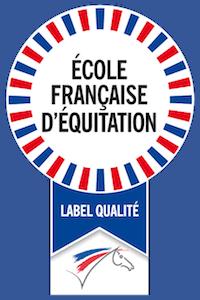 Logo du label qualité d'école française d'équitation CHE