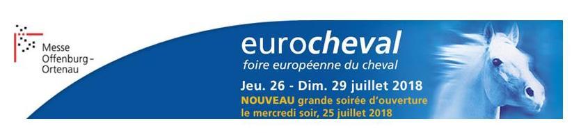 Bannière de l'évènement Eurocheval foire europééenne du cheval juillet 2017