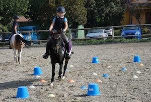 Les reprises poney au Club Hippique d'Eckwersheim